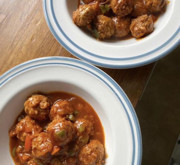 Albóndigas Veganas con salsa de tomate
