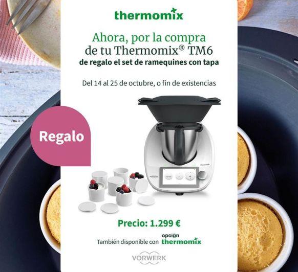 Thermomix® TM6 de regalo ramequines con tapa